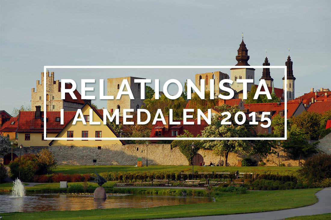 Almedalen 2015 Relationistas Annmarie Palm agerar debattchef